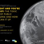 """Join us for """"I'm right and you're an idiot"""" on Jan. 23"""